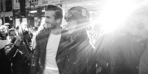 David Beckham turns Belstaff biker
