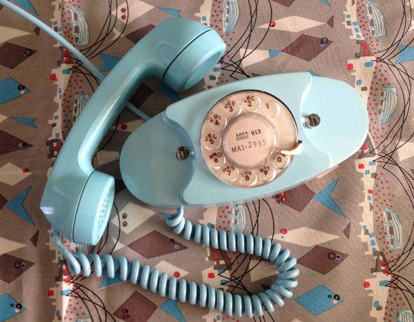 Turquoise Princess phone